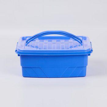 clear lock storage box small blue